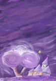 Purple night Stock Images