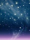 Purple night moon Stock Image