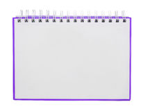The Purple Note book Stock Image