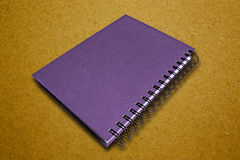 Purple Notebook Stock Photography