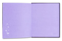 Purple notebook isolated Royalty Free Stock Photo