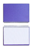 Purple notebook isolated Royalty Free Stock Photos