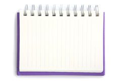 Purple notebook isolated on white background Stock Image