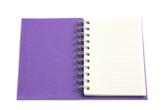 Purple notebook isolated on white background Royalty Free Stock Photography