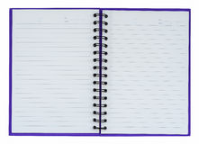 Purple notebook Stock Images