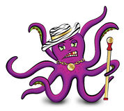 Purple octopus Stock Image