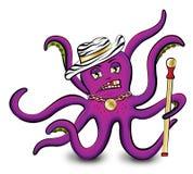 Purple octopus Stock Image