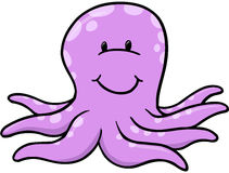 Purple Octopus Vector Royalty Free Stock Images
