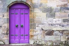 Free Purple Old Wooden Door Rustic Ancient House Entrance In Culross Royalty Free Stock Photo - 140229405