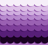 Purple Ombre Waves Stock Images