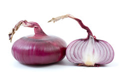 Purple onion and half Stock Photos