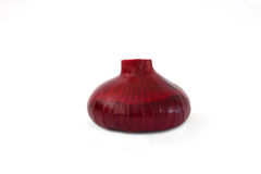 Purple onion whole isolated. On a white background royalty free stock image