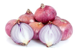 Purple onions Stock Images