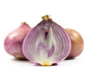 Purple onions. Royalty Free Stock Image