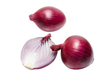 Purple onions isolated on white stock image