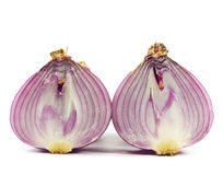 Purple onions were cut . Royalty Free Stock Photography