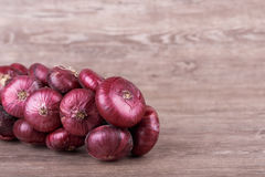 Purple onions Stock Photos