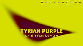 Purple op de achtergrond van de citroenkleur met vage rond gemaakte vorm royalty-vrije stock fotografie