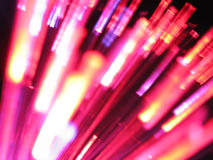 Purple optical fibre  Royalty Free Stock Images