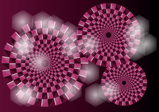 Purple optical illusion Stock Images