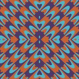 Purple orange blue wallpaper with floral motif. Purple brick orange petrol blue wallpaper with floral motif Stock Photography