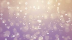 Purple orange bokeh background. Magical purple orange glowing bokeh background with floating light particles stock footage
