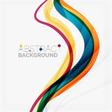 Purple and orange color lines on white Royalty Free Stock Image