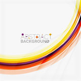Purple and orange color lines on white Royalty Free Stock Photos