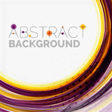 Purple and orange color lines on white Stock Photography