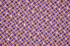 Purple and Orange Computer Generated Abstract Plaid Pattern Stock Images