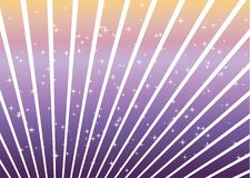 Purple and orange lines and stars Stock Photography