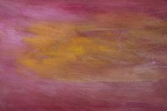 Purple & Orange Painting Stock Images