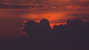 Purple orange sunset clouds Royalty Free Stock Image