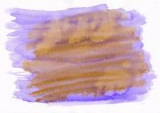 Purple and orange unbelievable colors mix watercolor hand drawn background.  vector illustration