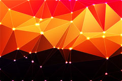 Purple orange yellow red brown geometric background with mesh  Royalty Free Stock Photography