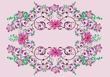 Purple orchids decoration Royalty Free Stock Photography