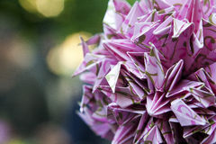 Purple origami ball Royalty Free Stock Photos