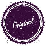 Purple ORIGINAL distressed stamp. Illustration image concept Royalty Free Stock Photography