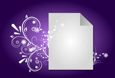 Purple ornaments background Royalty Free Stock Photos