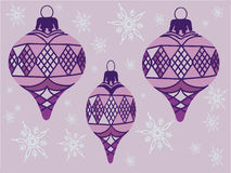 Purple ornaments Illustration royalty free stock images