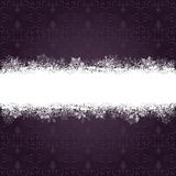 Purple Ornaments Snowflakes Banner Royalty Free Stock Image