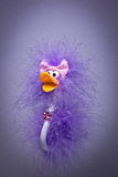 Purple ostrich Stock Photography