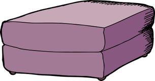 Purple Ottoman Stock Image