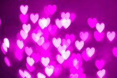 Purple hearts royalty free stock photography