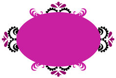 Purple Oval Background Royalty Free Stock Image