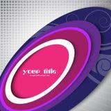 Purple oval design Royalty Free Stock Image