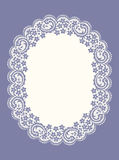 Purple Oval Lace Frame. Royalty Free Stock Image