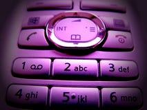 Purple pad. Photo of keypad, phone with purple finish Stock Photography