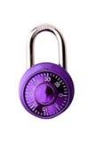 Purple Padlock Royalty Free Stock Photos