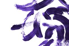 Purple paint brush strokes. Abstract purple paint brush strokes on white background royalty free illustration